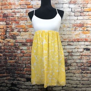 Alice & Trixie Silk White and Yellow Summer Dress